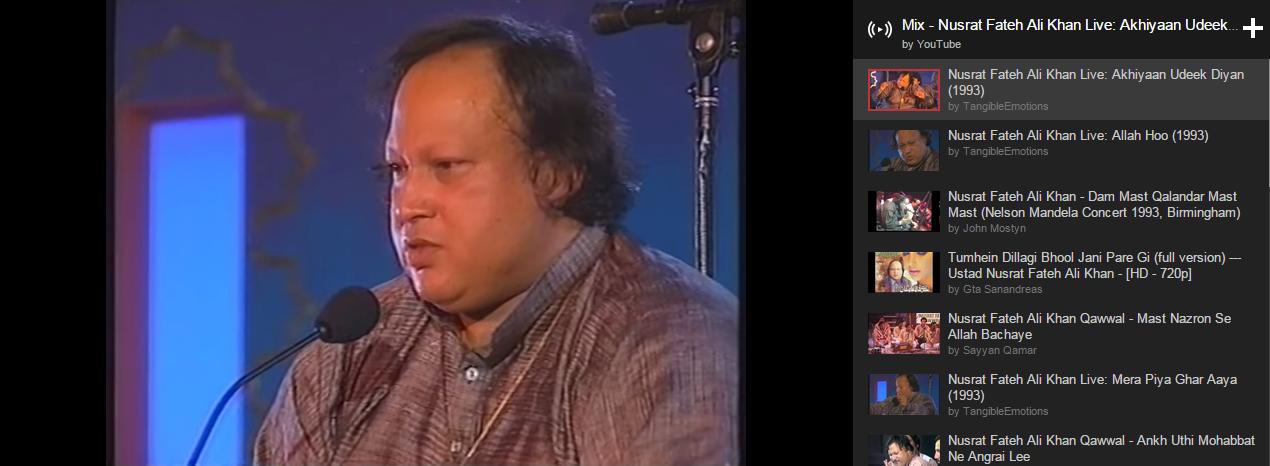 nusrat fateh ali khan playlist