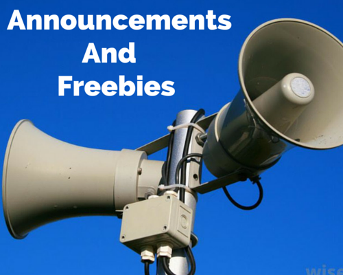Announcements & Freebies