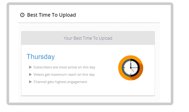 Upload your videos at the right time
