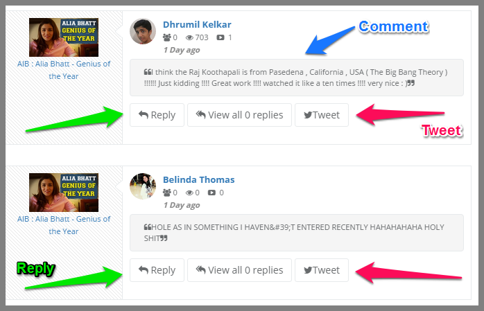 Tweet Back Competitor Comments