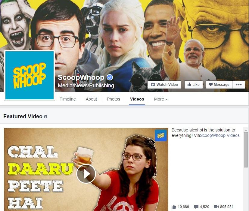 ScoopWhoop Facebook Videos
