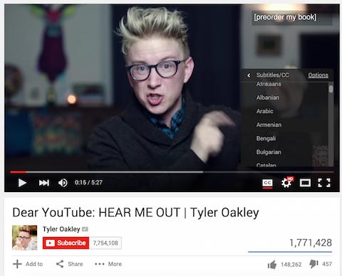 youtube video subtitles
