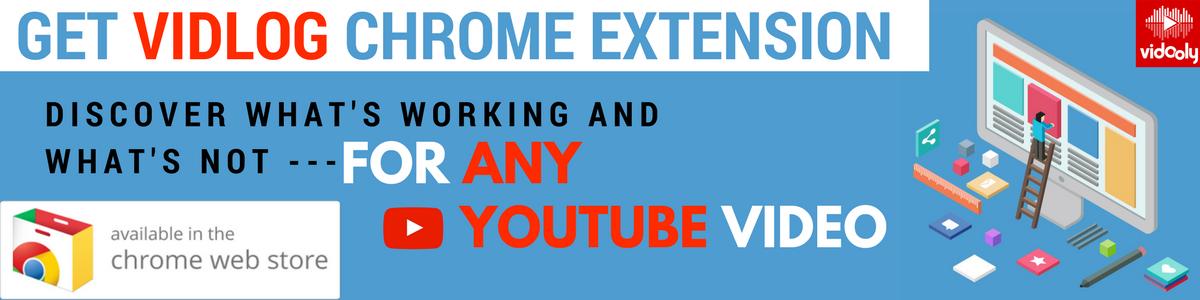 Vidooly's YouTube Chrome Extension 'vidlog'