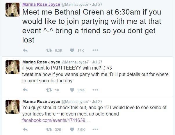 #SaveMarinaJoyce tweets