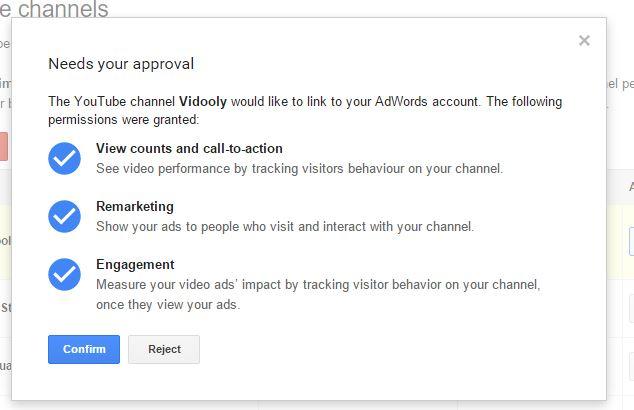 Link An Adwords Account Via YouTube