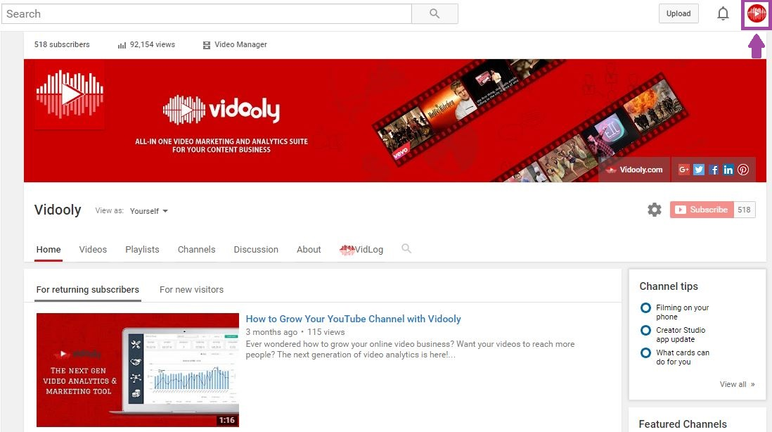 How To Change Your Default YouTube Channel Name | Vidooly