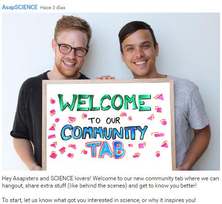 Bienvenida a Community Tab