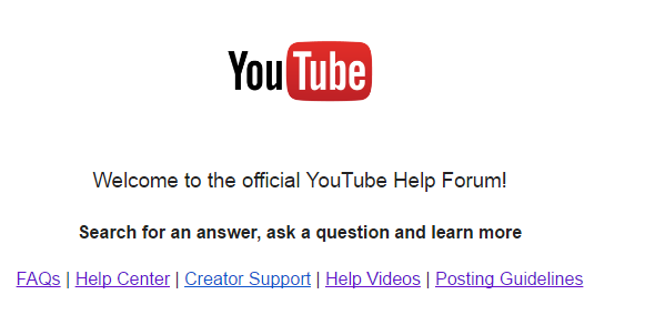 YouTube help center & community