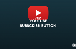 How to add YouTube subscribe button