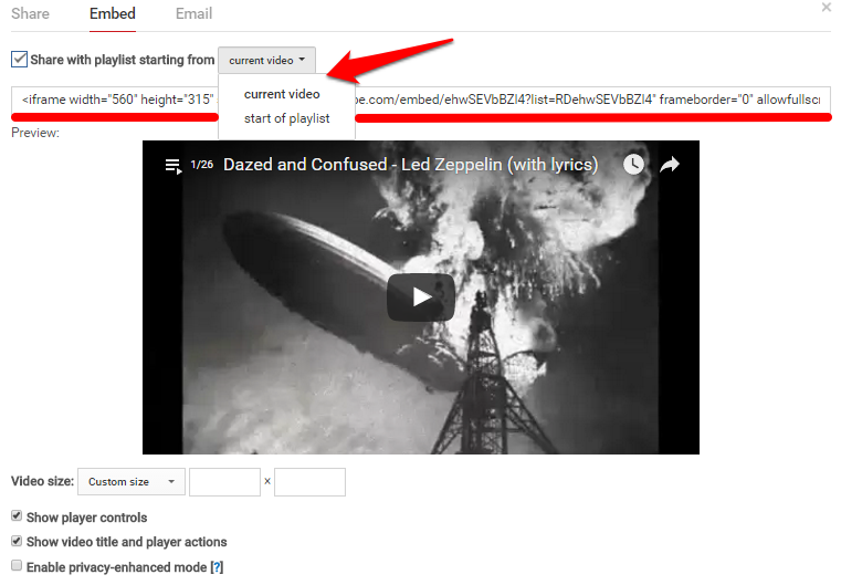 YouTube Playlist Embed