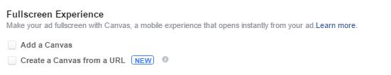 Fullscreen Experience