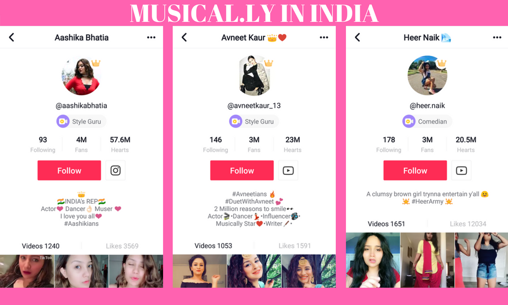 Top Musically/Tiktok Users In India Who Became Famous Star
