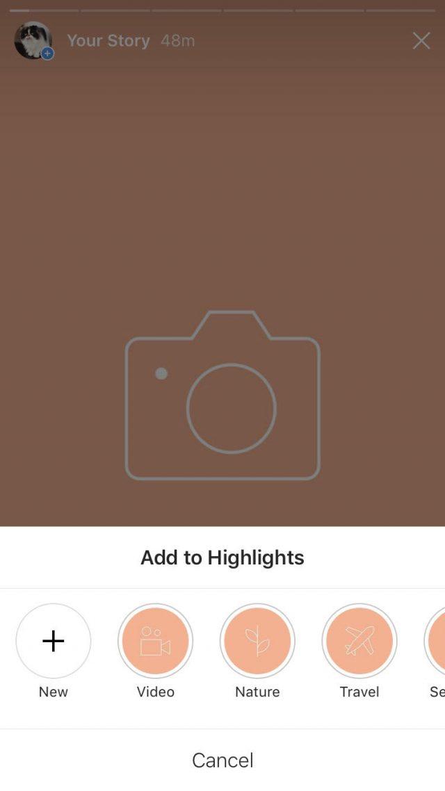 Instagram Story Highlight