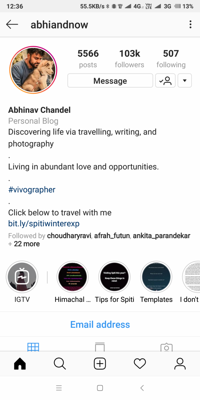Creative Instagram Bio