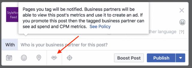 Facebook sponsored content