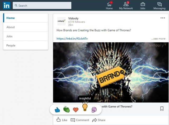 LinkedIn 2019 Updates Insightful Reaction