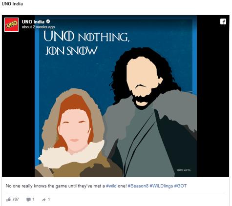 Jon Snow playing UNO