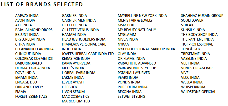 7 7 BEAUTY BASED FMCG PRODUCTS
