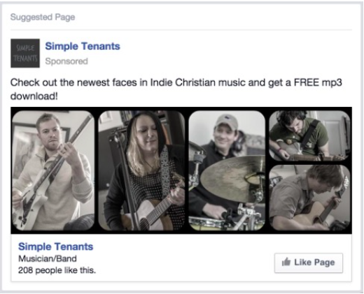 Facebook ads strategy for musicians