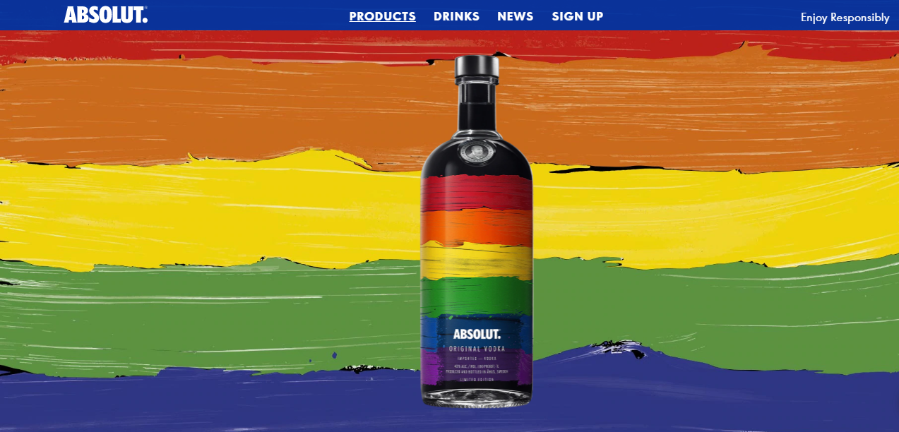Absolut vodka on How Brands are Remarketing their LGBT Support