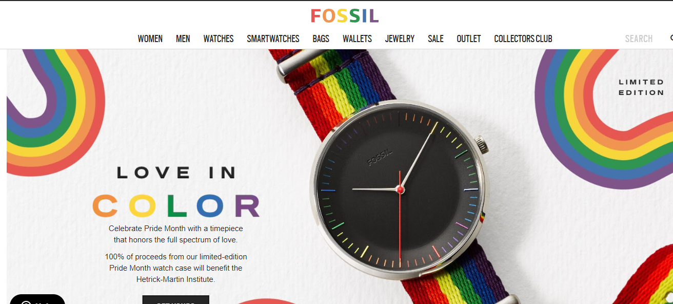 Fossil campaign on How Brands are Remarketing their LGBT Support
