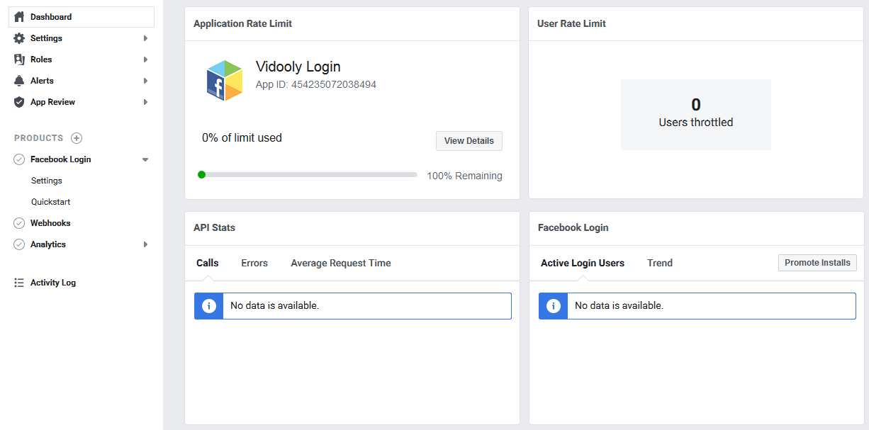 Developers Dashboard Integrate Facebook Login for WordPress