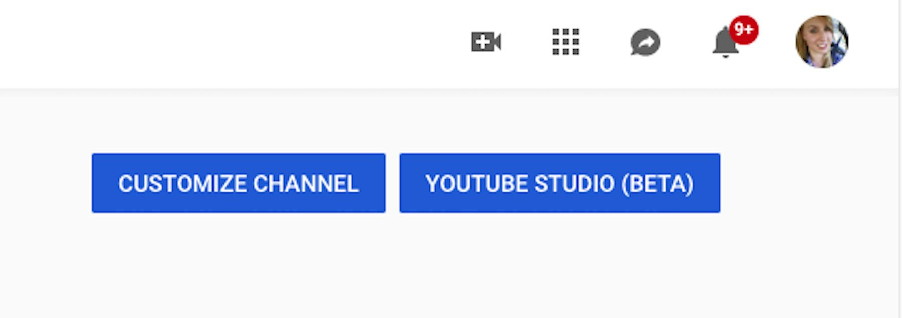 YouTube channel management features