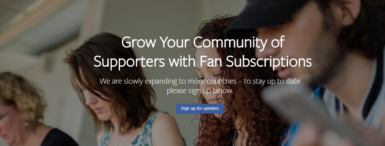 Facebook Fan Subscription service