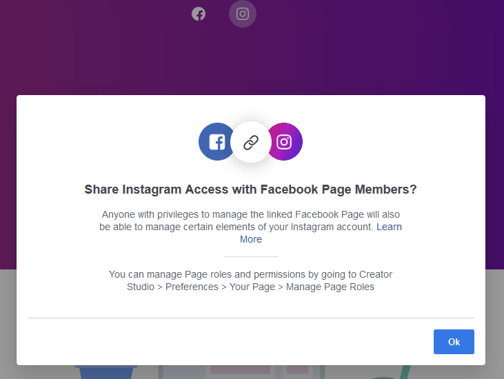 How to connect Instagram to Facebook Creator Studio to post from PC starting Instagram