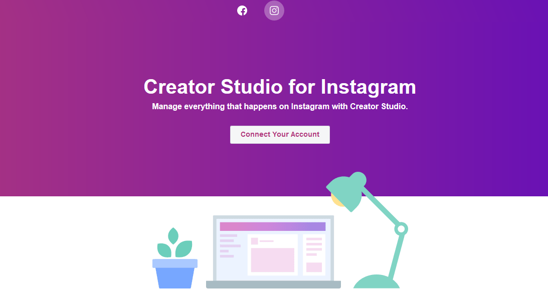 How to connect Instagram to Facebook Creator Studio to post from PC