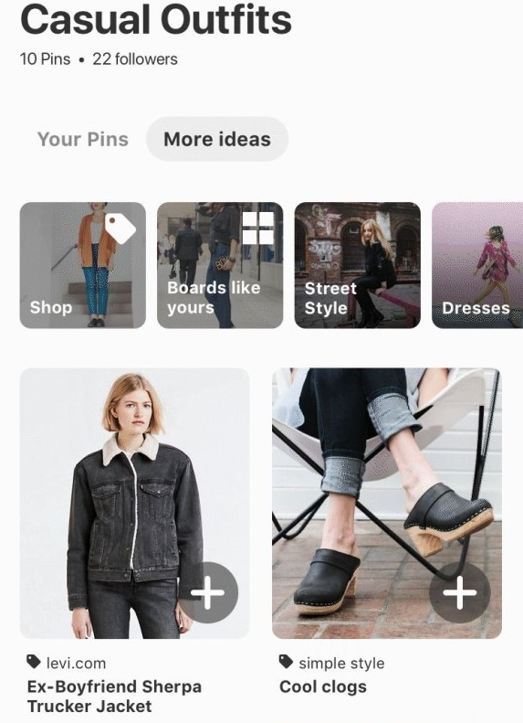 Pinterest Shopping Ads Personalized shopping recommendation