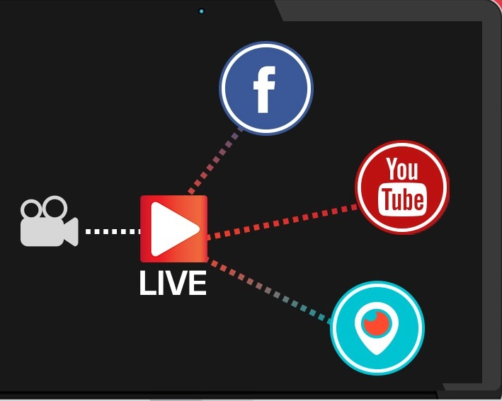 Multiple live streaming on social media platforms