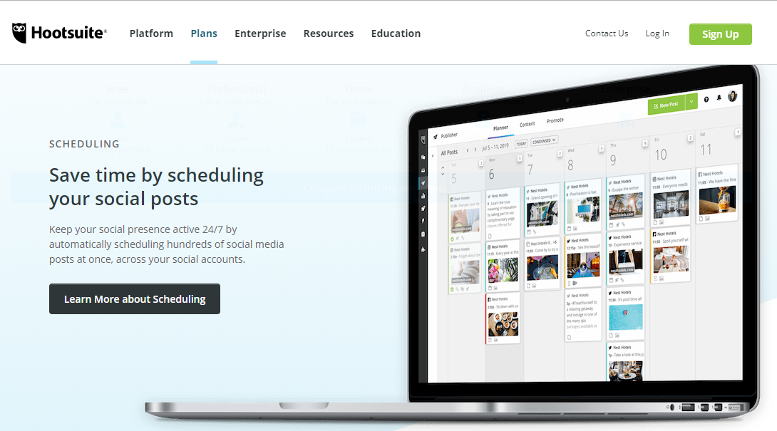 hootsuite tool for How to Schedule Tweets on Twitter