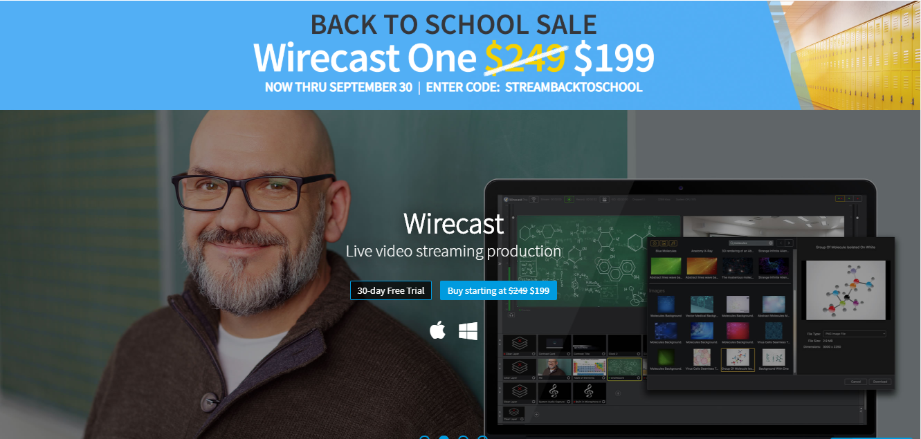 wirecast LinkedIn Live Streaming tool