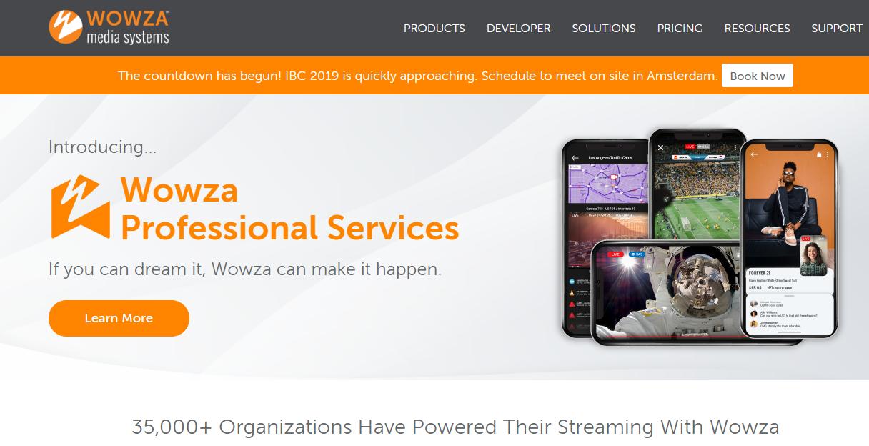 wowza LinkedIn Live Streaming tool