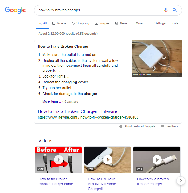 serp results and How to Optimize your video for search engines