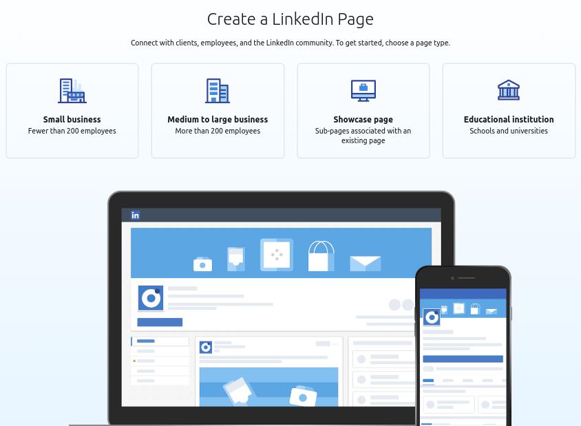 Create a LinkedIn page
