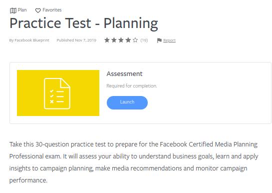 practice test planning