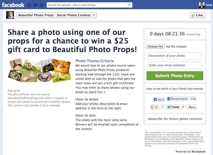 run Facebook contest