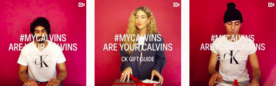 Clavin Klein Christmas campaign