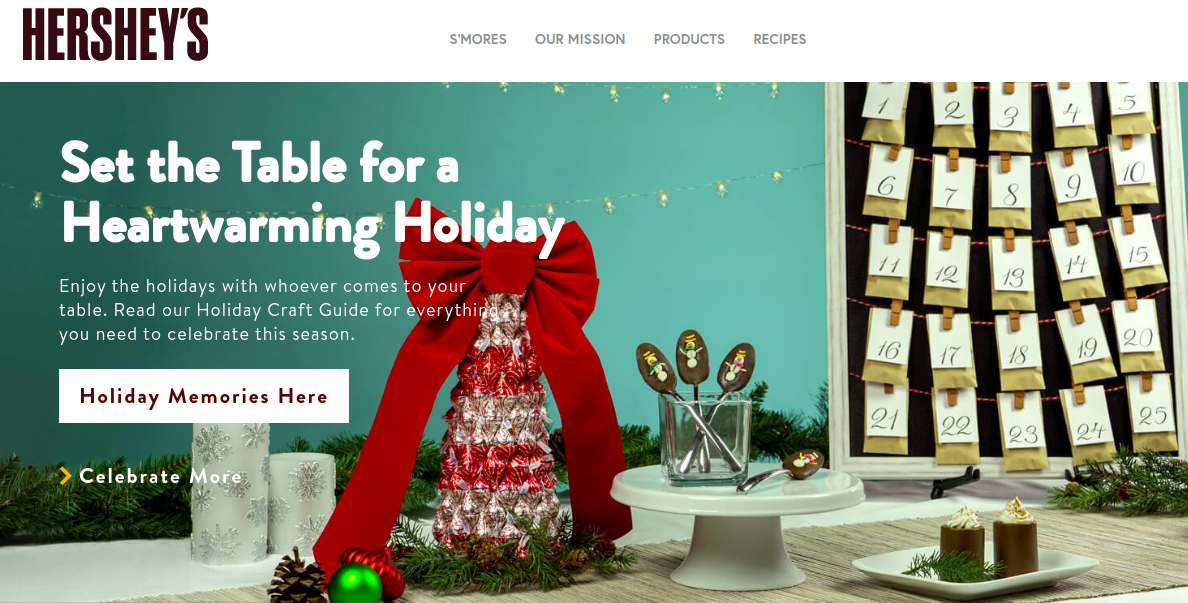 Hersheys Christmas season campaign