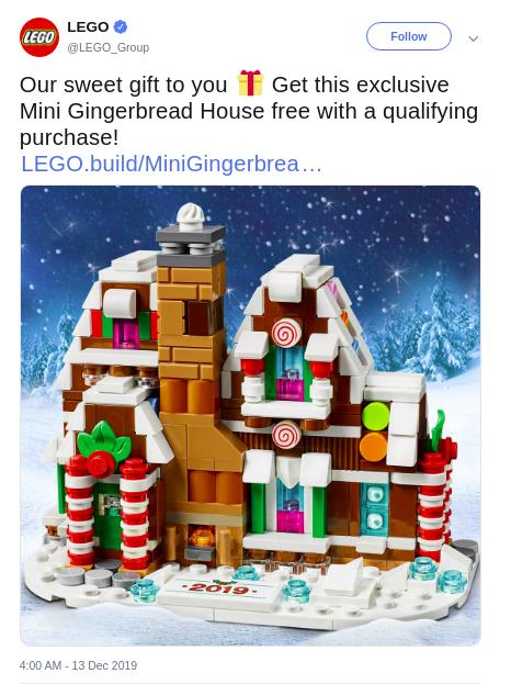 Lego Christmas season campaign