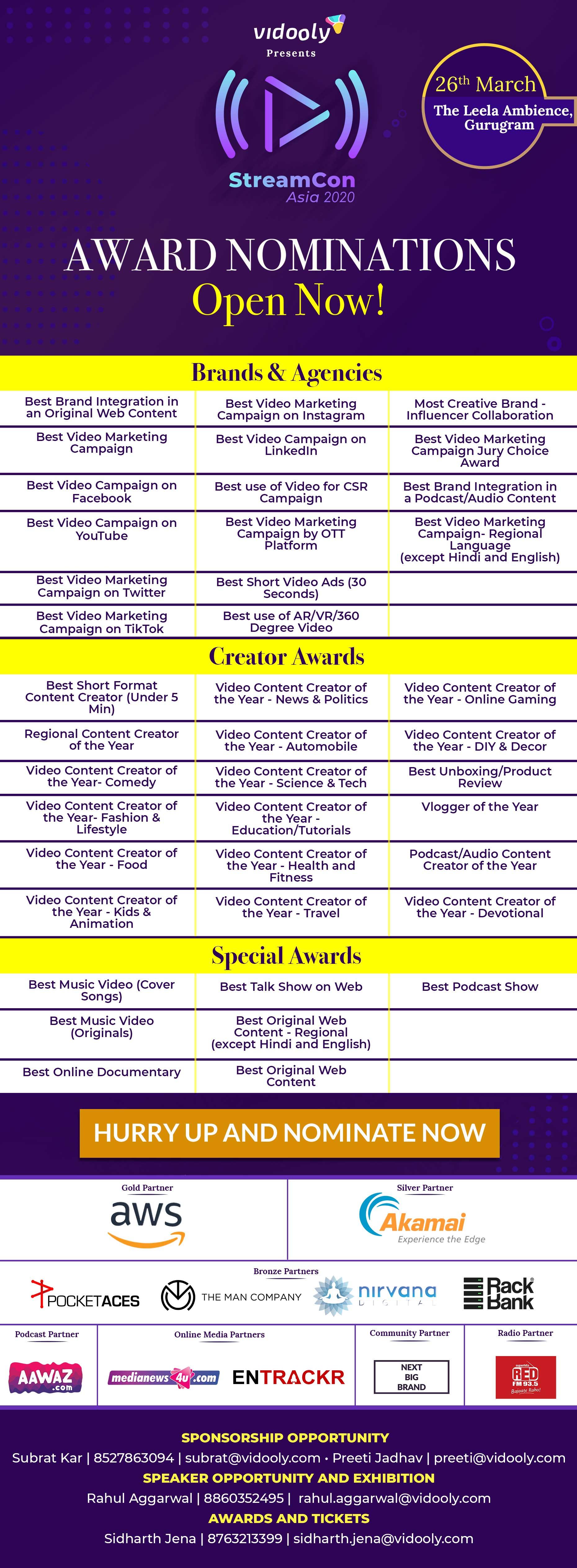StreamCon Awards