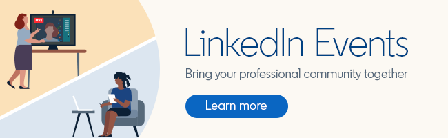 virtual events on LinkedIn