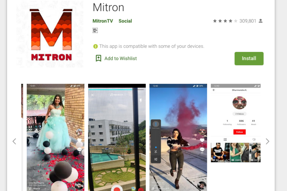 Mitron - Tiktok alternative app India