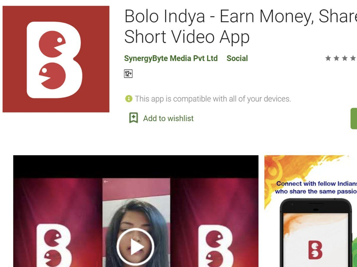 Bolo Indya - Tiktok alternative app India