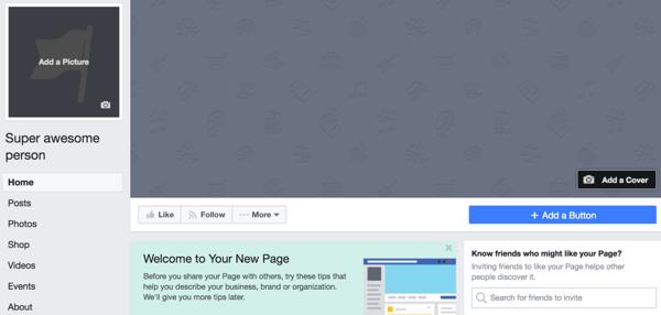 public figure page on Facebook