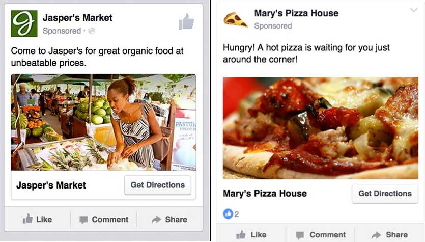 Facebook ads to promote local business